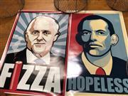 Sale 8888 - Lot 2013 - Pair of Australian Political Posters: Fizza & Hopeless