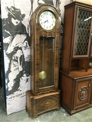 Sale 9026 - Lot 1017 - Vintage Timber Grandfather Clock (H192 x W65 x D42cm)