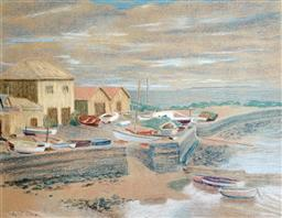 Sale 9142A - Lot 5034 - SYBIL CRAIG (1901 - 1989) - Half Moon Bay, Black Rock 34 x 43.5 cm (frame: 60 x 67.5 cm)