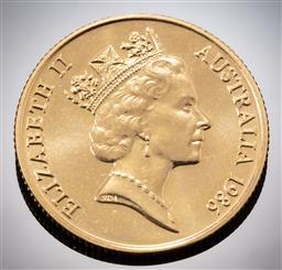 Sale 9153C - Lot 333 - AUSTRALIAN TWO HUNDRED DOLLAR GOLD COIN; 1986 Koala, 22ct gold, wt. 10.g.