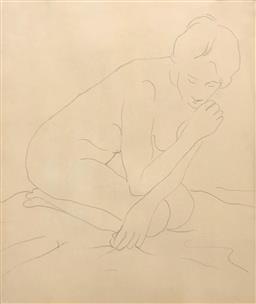 Sale 9245J - Lot 99 - Circle of Rupert Bunny (Australian 1864-1947) - Nude Study unsigned