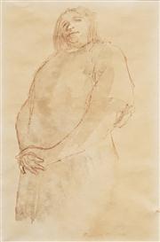 Sale 8583 - Lot 553 - Russell Drysdale (1912 - 1981) - Untitled (Woman) 27.5 x 17.5cm