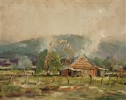 Sale 8604 - Lot 2049 - Terry Gleeson (1934 - 1976) - Country Scene 39.5 x 50cm