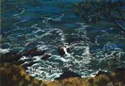 Sale 8633 - Lot 506 - Bernard Ollis (1951 - ) - Untitled, 2001 (Crashing Waves) 43.5 x 60.5cm