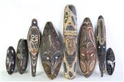 Sale 8977 - Lot 46 - A Cultural Decorative Mask Collection Various Sizes (H Smallest 35cm H Tallest 65cm)