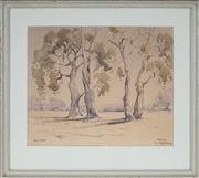 Sale 9053 - Lot 2008 - Alan Stubbs (1898 - 1976) - Sketch for the Happy Family 23 x 28 cm (frame: 35 x 29 x 2 cm)
