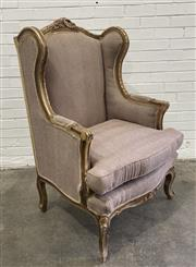 Sale 9063 - Lot 1003 - French Style Wingback Armchair