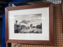 Sale 9127 - Lot 2059 - G. Hamilton Hammon Mount Rolleston, N.Z, watercolour, frame: 51 x 66 cm, signed lower left -