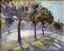 Sale 9142A - Lot 5035 - ELSA RUSSELL (1909 - 1997) - Tree-lined Street 26.5 x 33.5 cm (frame: 34 x 41.5 cm)
