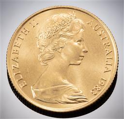 Sale 9153C - Lot 302 - AUSTRALIAN TWO HUNDRED DOLLAR GOLD COIN; 1983 Koala, 22ct gold, wt. 10.01g.
