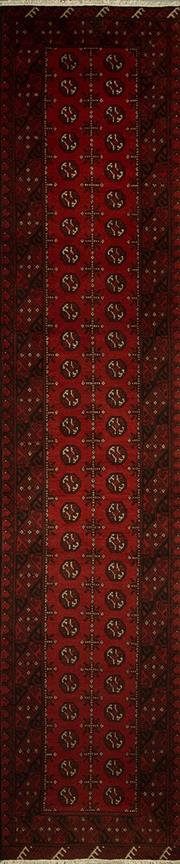 Sale 8424C - Lot 29 - Afghan Turkamn Runner 380cm x 80cm