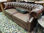 Sale 8462 - Lot 1054 - Vintage Leather Lounge with Buttoned Back
