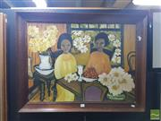 Sale 8552 - Lot 2030 - Ross - Afternoon Tea Oil on Canvas board (54cmx75xm) signed lower right
