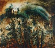 Sale 8773 - Lot 506 - Neville Pilven - Last Autumn 75.5 x 85.5cm