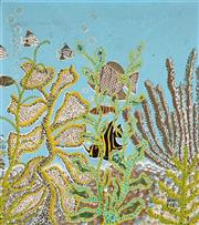 Sale 8847 - Lot 564 - Henri Bastin (1896 - 1979) - Untitled, 1965 (Tropical Fish) 49.5 x 44cm