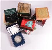 Sale 9035M - Lot 857 - Large collection of one dollar fine silver proof coins