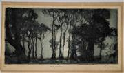 Sale 9082 - Lot 2008 - Squire Morgan Misty Moonrise aquatint ed. 4/75 13 x 26cm (unframed) signed