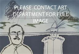 Sale 9096 - Lot 574 - Sidney Nolan (1917 - 1992) Sydney Harbour Bridge lithograph, ed. 11/96 54 x 81 cm (frame: 94 x 114 x 2 cm) signed lower right