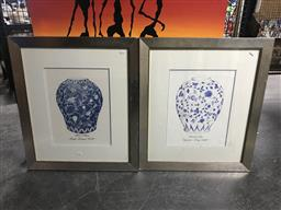Sale 9113 - Lot 2040 - A pair of framed decorative prints, frame size 73 x 53 cm