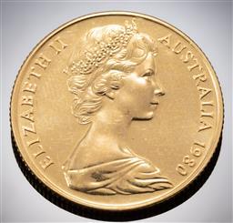 Sale 9153C - Lot 313 - AUSTRALIAN TWO HUNDRED DOLLAR GOLD COIN; 1980 Koala, 22ct gold, wt. 9.99g.