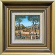 Sale 8286 - Lot 517 - Kevin Charles (Pro) Hart (1928 - 2006) - Stockyards 14 x 14cm