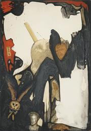 Sale 8504 - Lot 582 - Joan Beck (1916 - ) - Now & Then 70.5 x 50.5cm