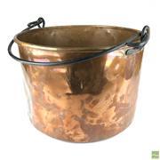 Sale 8550K - Lot 74 - Vintage French Copper Cauldron, 47 x 33cm