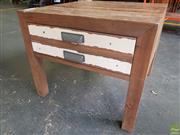 Sale 8601 - Lot 1114 - Shabby Chic Side Table with Single Drawer