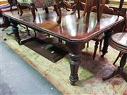 Sale 8657 - Lot 1012 - Victorian Mahogany Extension Dining Table, with two leaves & on turned fluted legs