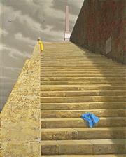 Sale 9032A - Lot 5034 - Jeffrey Smart (1921 - 2013) - The Steps, 2010 100 x 81 cm