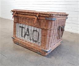 Sale 9117 - Lot 1005 - Large costume basket, ex The Australian Opera (h:72 x w:96 x d:68cm)