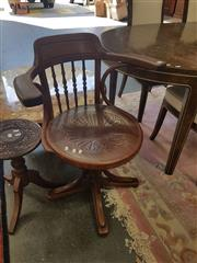 Sale 8676 - Lot 1174 - Bentwood Captains Chair with a Pressed Seat