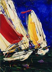 Sale 8732 - Lot 507 - Dean Vella (1958 - ) - Riding the Wind 30 x 23cm