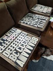 Sale 8765 - Lot 1037 - Set of Printers Blocks in Three Trays