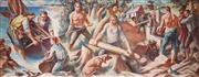 Sale 8881 - Lot 582 - Artist Unknown (C20th) - The Voyage of George Bass 152.5 x 376cm