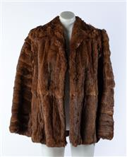 Sale 9003F - Lot 43 - A Vintage Fur Coat with Satin Lining, stitching coming away on sleeve, size M.