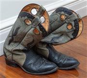 Sale 8990H - Lot 92 - A pair of Boulet cowboy boots, size 9.5 mens