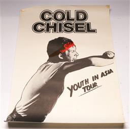 Sale 9136 - Lot 40 - Cold Chisel Youth In Asia Tour (72cm x 50cm) (Some wear, folds to edges)
