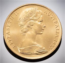 Sale 9153C - Lot 323 - AUSTRALIAN TWO HUNDRED DOLLAR GOLD COIN; 1983 Koala, 22ct gold, wt. 10.02g.