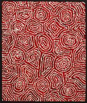 Sale 8321 - Lot 599 - George Ward Tjungurrayi (c1945 - ) - Tingari 75 x 63cm (framed & ready to hang)