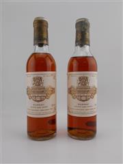 Sale 8479 - Lot 1819 - 2x 1978 Chateau Coutet, 1er Cru Classe, Barsac - 375ml