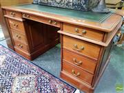 Sale 8480 - Lot 1037 - Twin Pedestal Desk