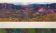 Sale 8652A - Lot 5088 - Joy Redman (1928 - 2006) - Ridgetop Akaraola (Diptych) 58 x 98cm (frame: 88 x 122cm)