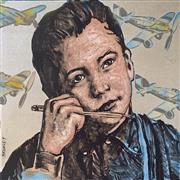 Sale 8659A - Lot 5007 - David Bromley (1960 - ) - The Writer 92 x 92cm (frame: 126.5 x 126.5cm)