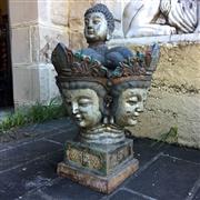 Sale 8795K - Lot 282 - A four-sided cast iron Thai Buddha spire