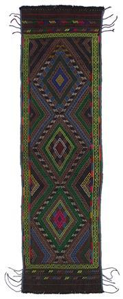 Sale 8918C - Lot 8 - Afghan Vintage Beluch 72x252cm, Handspun Wool