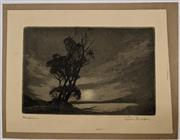 Sale 9082 - Lot 2007 - Squire Morgan  Nocturne aquatint 10 x 15cm (unframed), signed