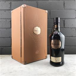 Sale 9089W - Lot 37 - Glenfiddich 40YO Single Malt Scotch Whisky - release no. 6, bottle 307/600, 45.8% ABV, 700ml in leather presentation box with stoppe...