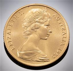 Sale 9153C - Lot 317 - AUSTRALIAN TWO HUNDRED DOLLAR GOLD COIN; 1983 Koala, 22ct gold, wt. 9.98g.