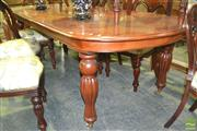 Sale 8284 - Lot 1031 - Timber Extension Dining Table with Single Leaf on Castors
